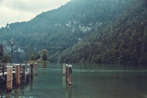 Lake in the mountains by SashaOctober