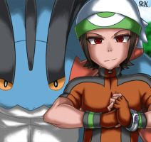 Ruby and Mega Swampert by FenRox