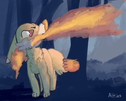 you're gonna burn the forest down oh no!! by Altiasdog