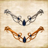 Circlet set by Just-A-Little-Knotty