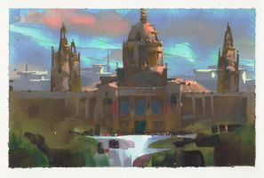 National Gallery, Barcelona by NathanFowkesArt