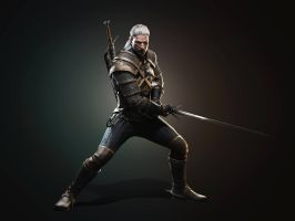 New Geralt render fullsize by Scratcherpen