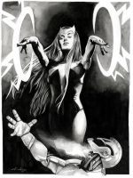 Scarlet Witch vs Ultron (or Oops) - SOLD by dimitriskoskinas
