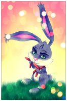 Chibi Bunnymund by The-Black-Alice