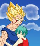 Vegeta and Bulma- Imagining... by Beastwithaddittude