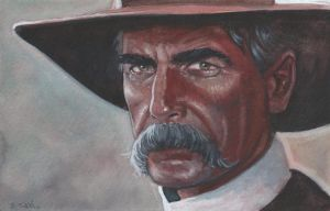 Sam Elliot Tombstone Watercolor Painting... by ssava
