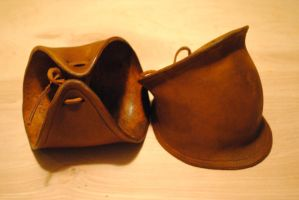 Leather Elbow Cops by WarClad