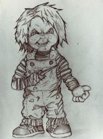 Chucky Drawing by DiegoE05