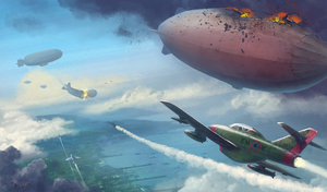 Airship Dogfight by Chris-Garrett