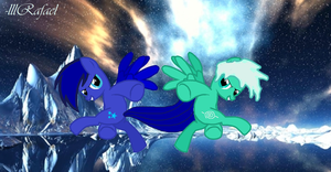 Blue Star and Frost Neirz Adventure by lllRafaelyay