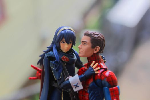 Lucina and Spider-Man by kongzillarex619