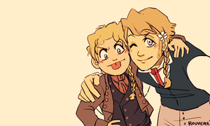 Les Mis: Gavroche and Jehan by student-yuuto
