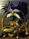Batman and Scarecrow by Eleyre