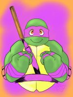 Donatello's smile colored by FrillyReptile