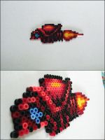 Super Metroid Ripper II bead sprite magnet by 8bitcraft