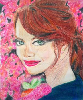 EMMA STONE by Mixartlove