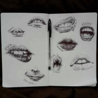 mouth study by marraz-dezagun