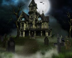 Stock Bg Haunt by Moonglowlilly