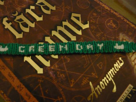 Green Day Bracelet by chocolatedesires