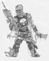 Zombie punisher sketch by DarkAsylumxxx