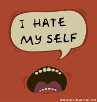 I hate my self by WmozartA