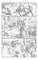 Amazing Spiderman_Hawkeye Team Up Page2 by FlowComa