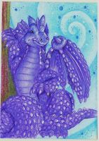ArtCrossing 4: Purple Dragon ACEO by Lucky101212