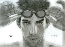 Michael Phelps Swim God by sstrait