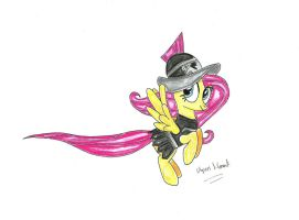 Fluttershy as: Private Pansy by UlyssesGrant