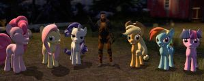 Gordon Freeman and ponies by Neros1990