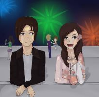 Watching the fireworks by Toru-chi