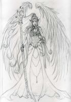 Aasimar - sketch by Mistresselysia