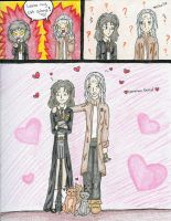 Hermione and Filch by LindyArt
