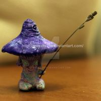 Mushroomer and lavender stick (Sold) by SweetSign