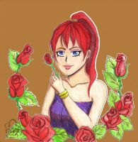 [Athelstan] - Red Rose (traditional) by Lupizora