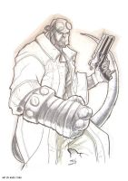hellboy MARKER MADNESS by deemonproductions