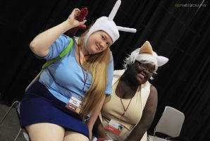 Adventure Time with Cake and Fionna by MidnightPursona