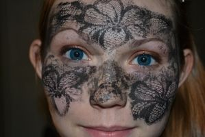 Orchid Lace Mask by silverxtippedxrose