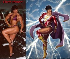 SHAZAM - Dawn Moser Is Captain Marvel By Ulics by zenx007