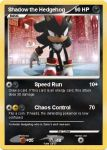 Shadow the Hedgehog pokemon card by Lukum