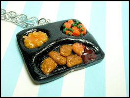 TV Dinner Necklace by GrandmaThunderpants