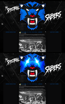 The Spectral Sabers Website (BLUE) by Llliiipppsssyyy