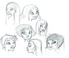 Face Studies 1 by fyre-flye