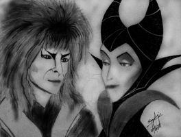Jareth and Maleficent (Goblin King and Queen) by Black-Velvet-89