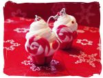 Christmas Candy Cupcake Earrings by Cateaclysmic