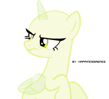 Pony base #2 Disgust by HappinessAgnes