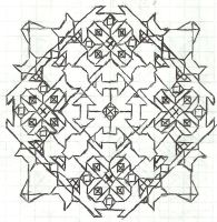 Graph paper art Jan 24 by estabane