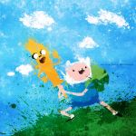 Adventure Time - Finn and Jake by BOMBATTACK