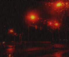 Rainy Night...animation by ansdesign