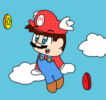 Mario in the sky by genny03